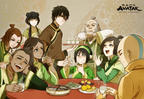 Avatar The Last Airbender - The Gang in Earth Colors